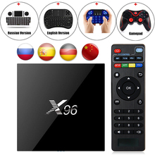 X96 Android 6.0 TV Box Amlogic S905X Макс 2 ГБ RAM 16 ГБ ROM Quad Core WI-FI HDMI 4 К * 2 К HD Smart Set Top BOX Media Player + Клавиатура
