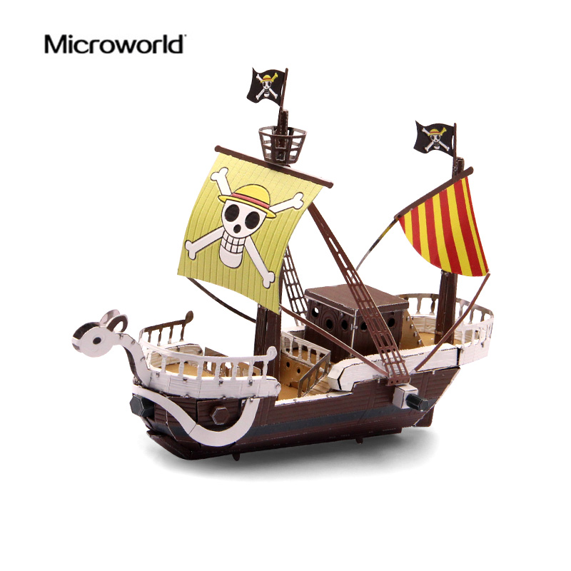 2017 Microworld 3D Metal Nano Puzzle Going Merry Pirate Ship Model Kits Z012 DIY 3D Laser Cut Jigsaw Toys For Audit2017 Microworld 3D Metal Nano Puzzle Going Merry Pirate Ship Model Kits Z012 DIY 3D Laser Cut Jigsaw Toys For Audit