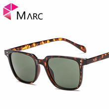 MARC Sunglasses Plastic Women Fashion Personality Oculos Sol Gafas Mirror Square Trend UV400 Wrap Classic Resin Brown Brand arnett fd720 fashion brown resin lens uv400 protection sunglasses for women brown