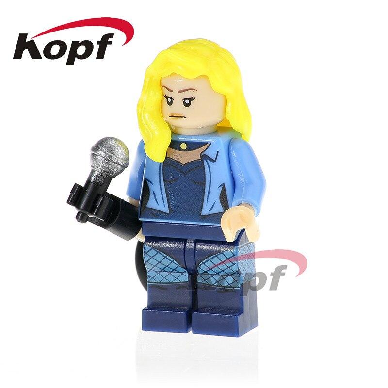 PG414 Super Heroes Jayna Batgirl Wonder Twins Zan General Zod Black Canary Building Blocks Learning Doll Toys Gift For Children