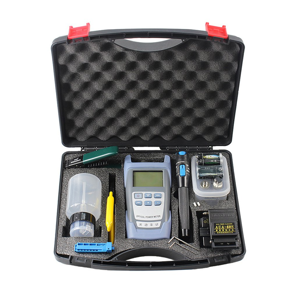 Practical Fiber Optic FTTH Tool Kit AUA-60S Fiber Cleaver Optical Power Meter 3-5km Visual Fault Locator Tester Supplier SalePractical Fiber Optic FTTH Tool Kit AUA-60S Fiber Cleaver Optical Power Meter 3-5km Visual Fault Locator Tester Supplier Sale