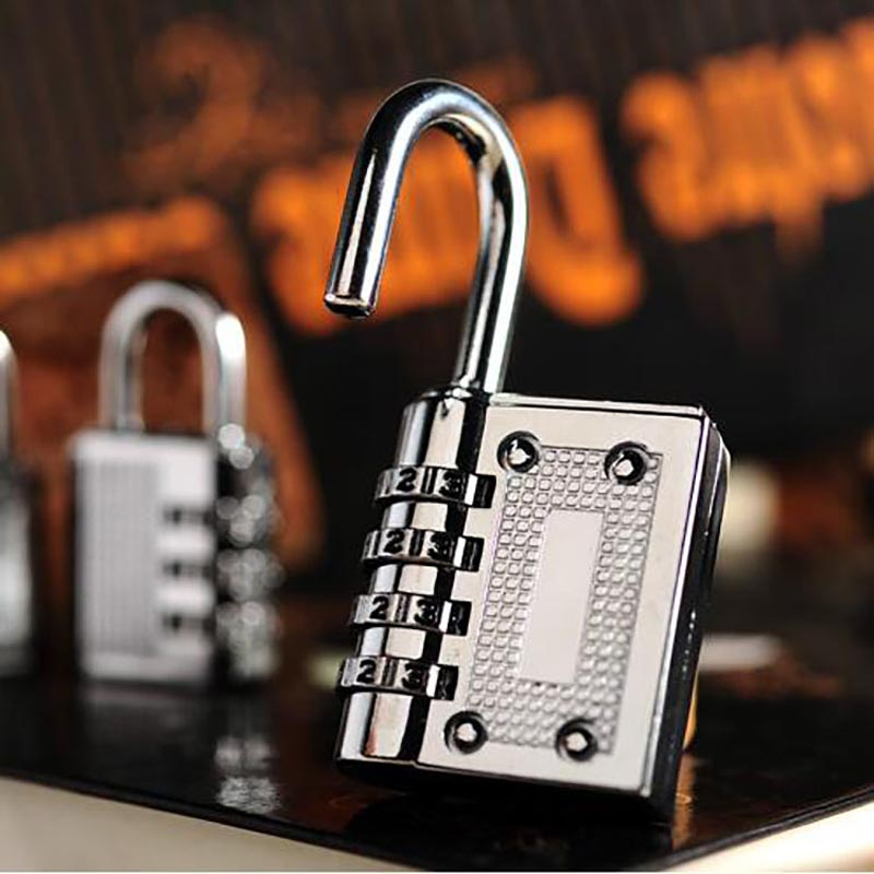 3/4Digit Dial Combination Code Number Lock Padlock for Luggage Backpack Suitcase Drawer ALI88