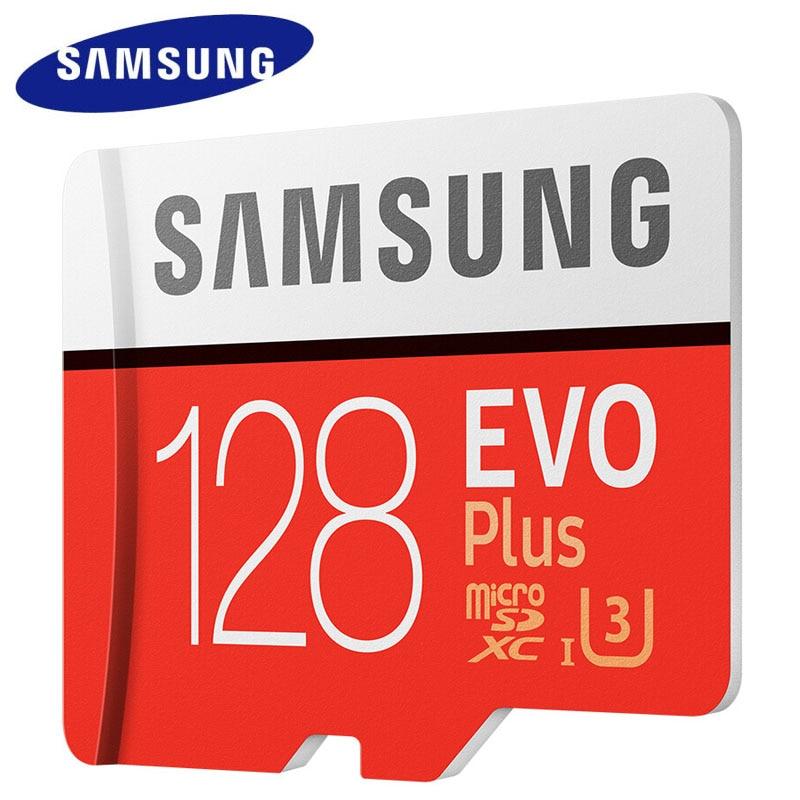 Cartão De Memória SAMSUNG 128GB 64GB 10 U3 32GB Classe Cartão Micro SD Cartão de Memória Flash Microsd TF para telefone microSDHC/SDXC