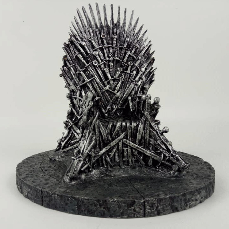 Game Of Thrones Figures The Iron Throne A Song Of Ice And Fire Sword Chair Resin model Action Figures 17cm game of thrones action figure toys sword chair model toy song of ice and fire the iron throne desk christmas gift 17cm