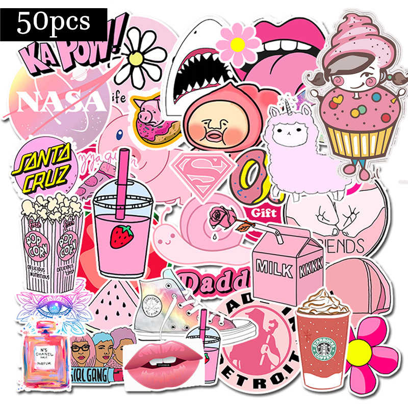 Waterproof PVC Pink Girls Fun Sticker toys for kids For Motorcycle Car Stickers