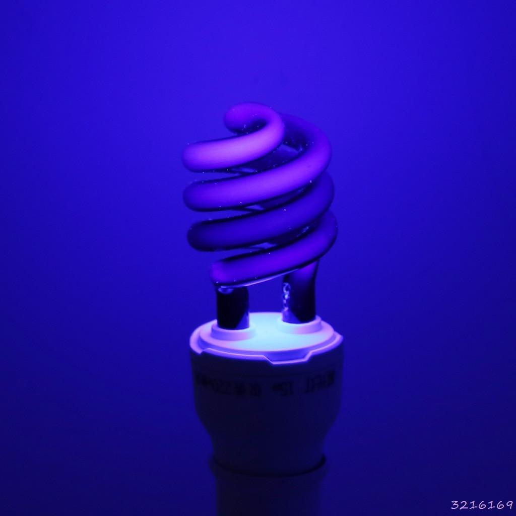 E27 5/15/20W UV Ultraviolet Fluorescent Blacklight CFL Light Bulb Lamp 220V-43#