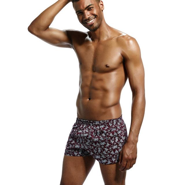 Men's Floral Pattern Cotton Boxers