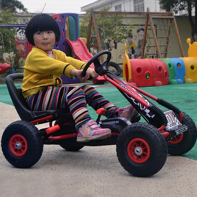 kids outdoor fun ride on cars electric children 4 wheel pedal karts toy car pneumatic tire