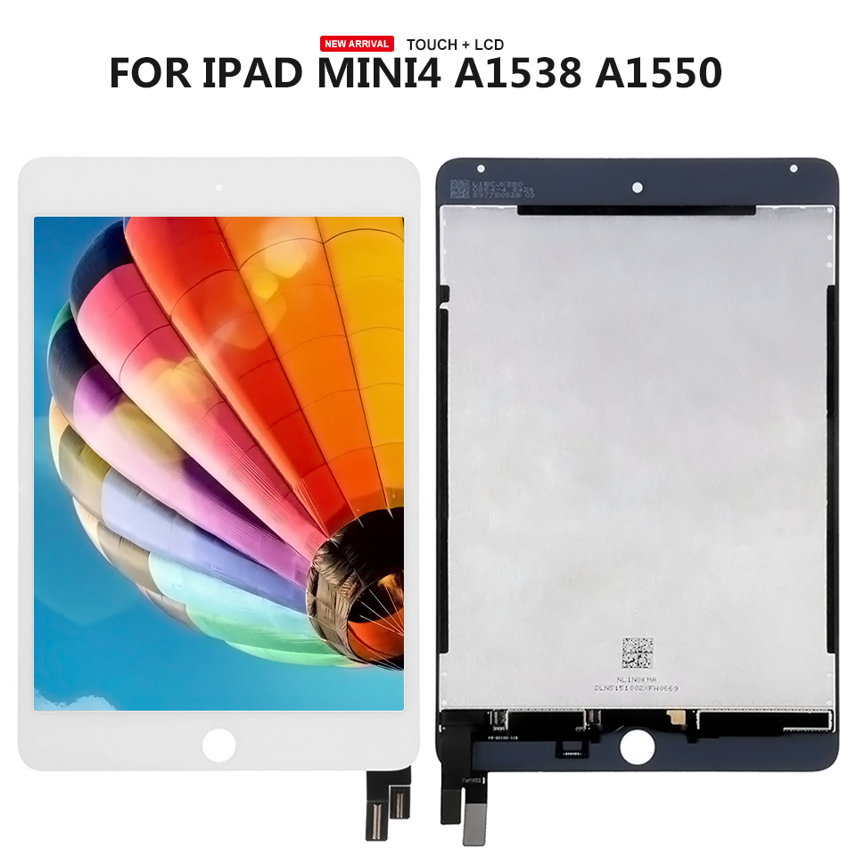 For ipad mini 4 LCD Display Screen Touch Panel Glass Assembly Replacement Free Tools for 4 2 nl4864hc13 01a lcd display screen panel touch