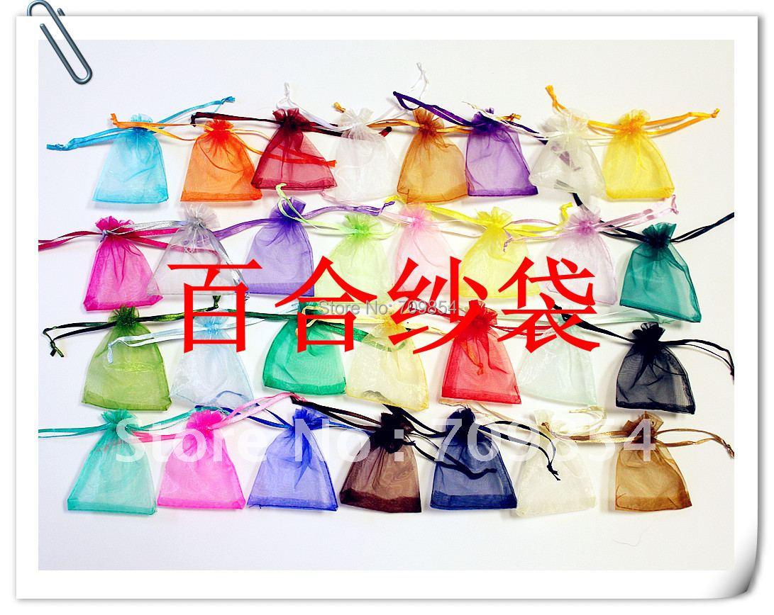 1000 шт./лот сплошной цвет подарок мешочек для украшений сумки ручной работы 9*12 см