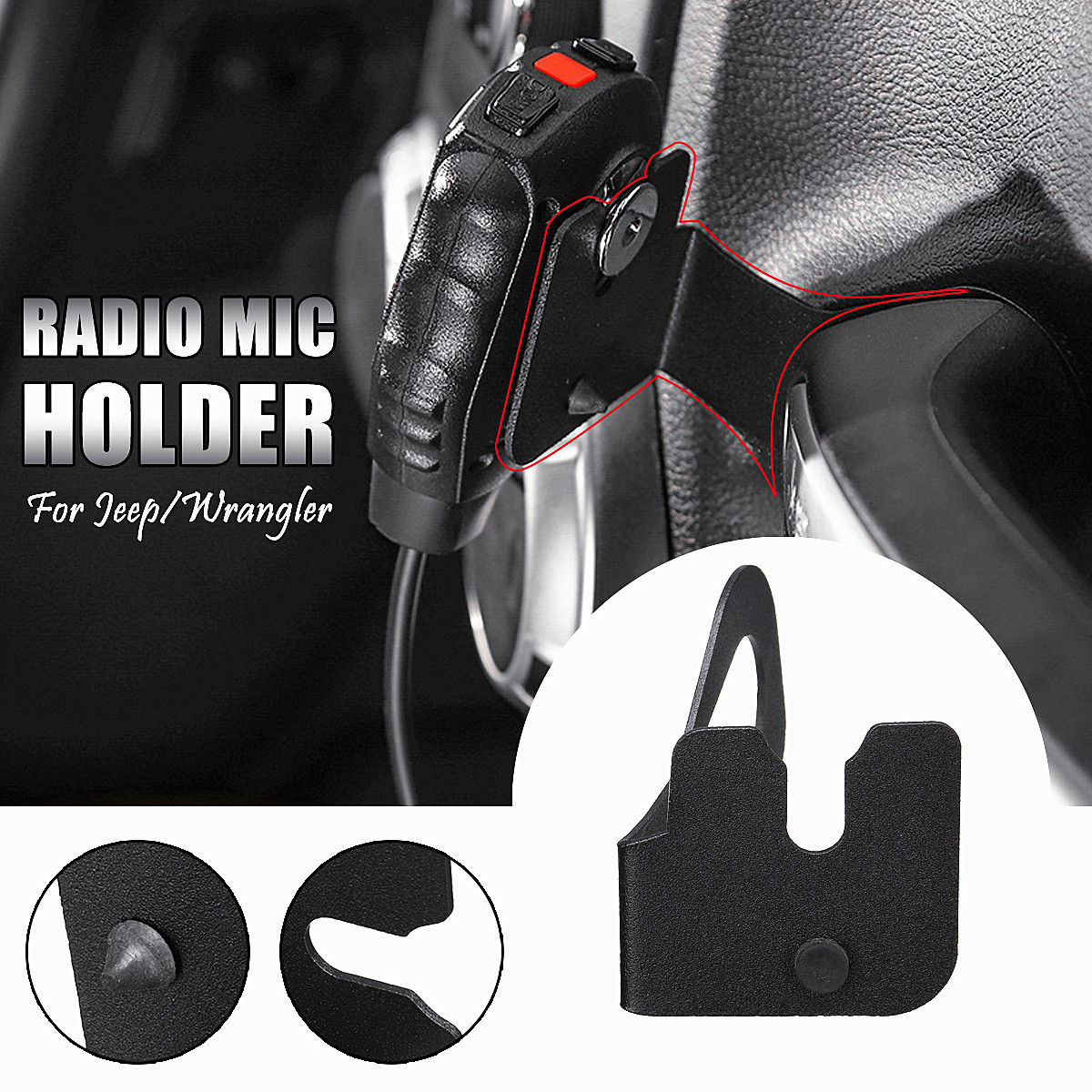 Interphone Stand Holder Radio Mic Modification Accessories For JEEP