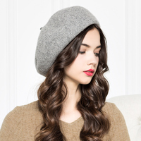 Lady New Arrival Wool Base Cap Wool Knitted Woolen Cap Painter Ray Limpets Students Winter Warm