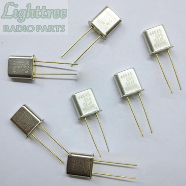 10X חדש RX קריסטל 44.645Mhz עבור מוטורולה GM300 שני להיזהר רדיו