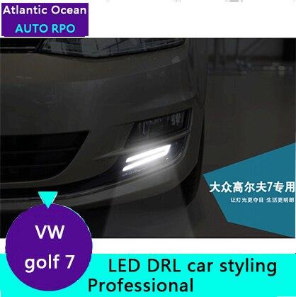 JGRT Фольксваген Гольф 7 Гольф 7 СИД DRL светодиодные фары дневного света руководство высокопрочный АБС автомобиль для укладки высокая яркость светодиодные лампы автомобиля