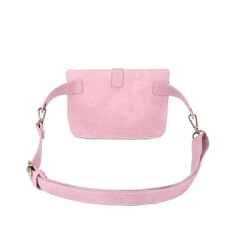 Jiessie & Angela Vintage Style Women Leather Belt Bag Brand Designer Women Waist Bag Fanny Packs Lady Pouch Belt Waist Pack