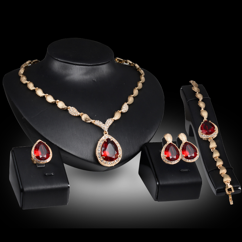Aliexpresscom Buy African costume gold color crystal Red Blue Gem