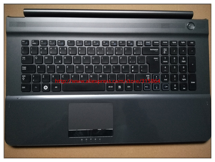 New new laptop keyboard with c case shell palmrest for samsung RC710 RC720 Portuguese layout 9Z.N6ASN.106 kr korean for samsung sf510 laptop keyboard with c shell blue