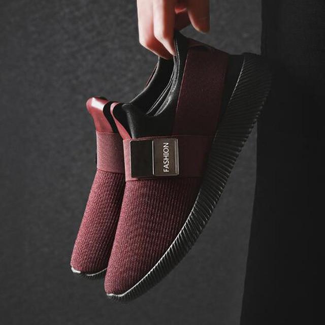 Mut-mat hombres zapatos de malla 2019 primavera y verano nuevo diseño transpirable Casual zapatillas ligero conjunto-pie Perezoso zapatos de los hombres