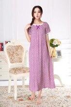 2018 Brand Sleep Lounge Women Sleepwear Loose Cotton Nightgowns Sexy Long Home Dress Ladies Summer Nightdress Big Size