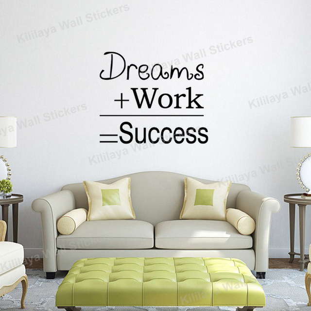 Dreams Work Success Motivational Quotes Mural Wall Sticker