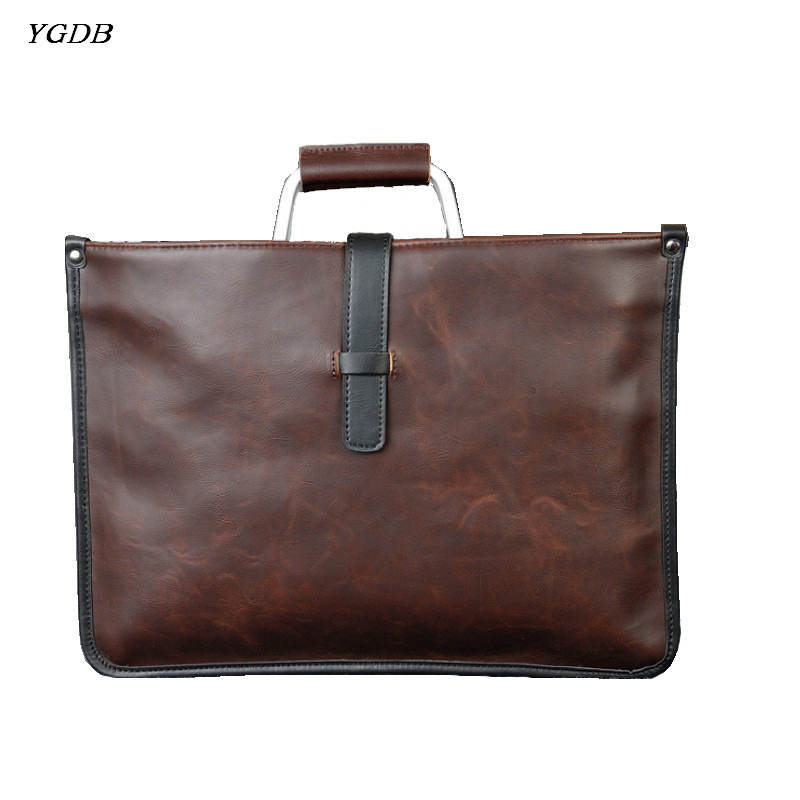 YGDB man handbag tote shoulder messenger business bag briefcase men crossbody satchel Sling bags vintage brown pu leather 8132 uiyi original design men handbag pu leather satchel messenger crossbody bag small casual business shoulder sling bags 160108