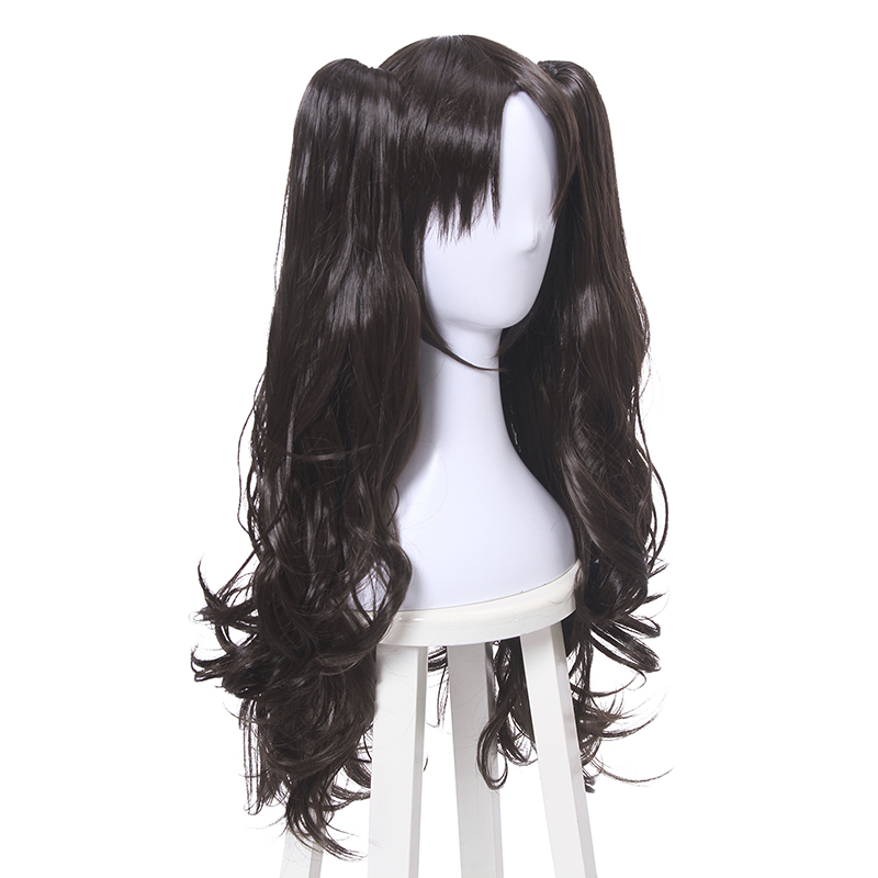 Image 2 - L email wig Game Fate/Stay Night Rin Tohsaka Cosplay Wigs Long Wavy Heat Resistant Synthetic Hair Perucas Cosplay Wig-in Synthetic None-Lace  Wigs from Hair Extensions & Wigs