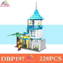 sermoido Friends Princess Castle Building Blocks Cinderella Mermaid Elsa Anna Figure Girl Bricks DBP197