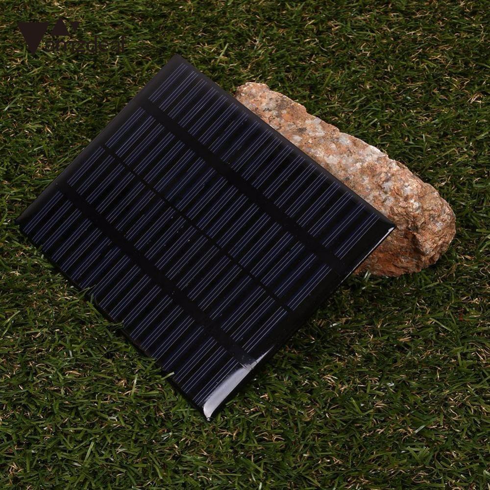 amzdeal New 1.5W 18V Ploycrystalline Solar Panel Power Board DIY A Grade Plate Battery Professional Outdoor Travelling Powerbank
