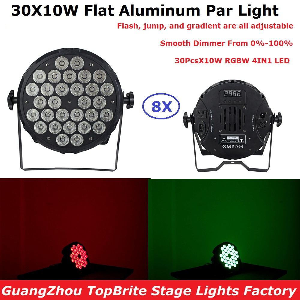 8 Pack Cheap Price 30X10W 4IN1 RGBW LED Par Lights DJ Par Cans Aluminum Alloy DMX512 Light DMX DJ Wash Lighting Stage Light tsurinoya 2 01m 2 13m proflex ii spinning fishing rod 2 section ml m power lure rod vara de pesca saltwater fishing tackle