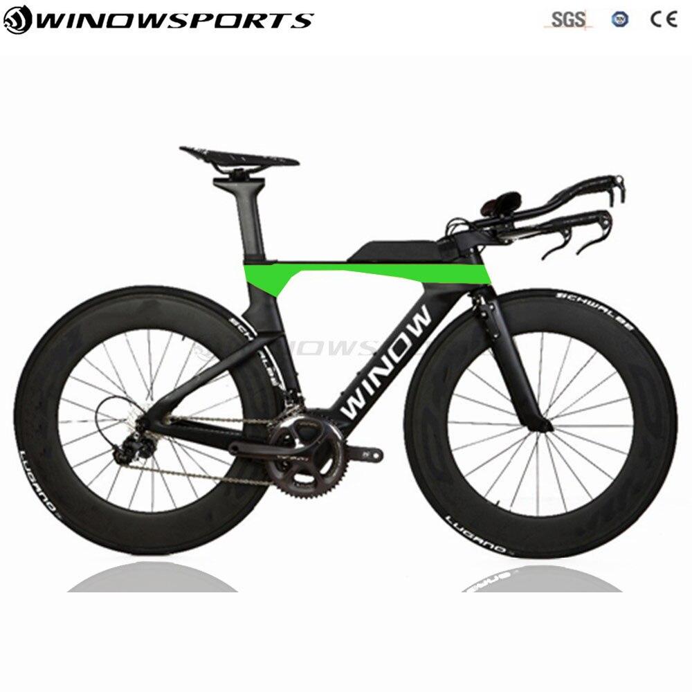 Vélo de contre-la-montre Aero vélo TT complet 22 vitesses 105 R7000/UT R8000 groupe taiwan vélo course tt vélo taille 48/51/54cm disponible