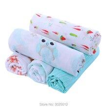 Муслин пеленать ребенка Одеяла пеленание одеяло 100% органический мягкие Бамбуковая муслиновая для получения муслин пеленать ребенка Одеяла