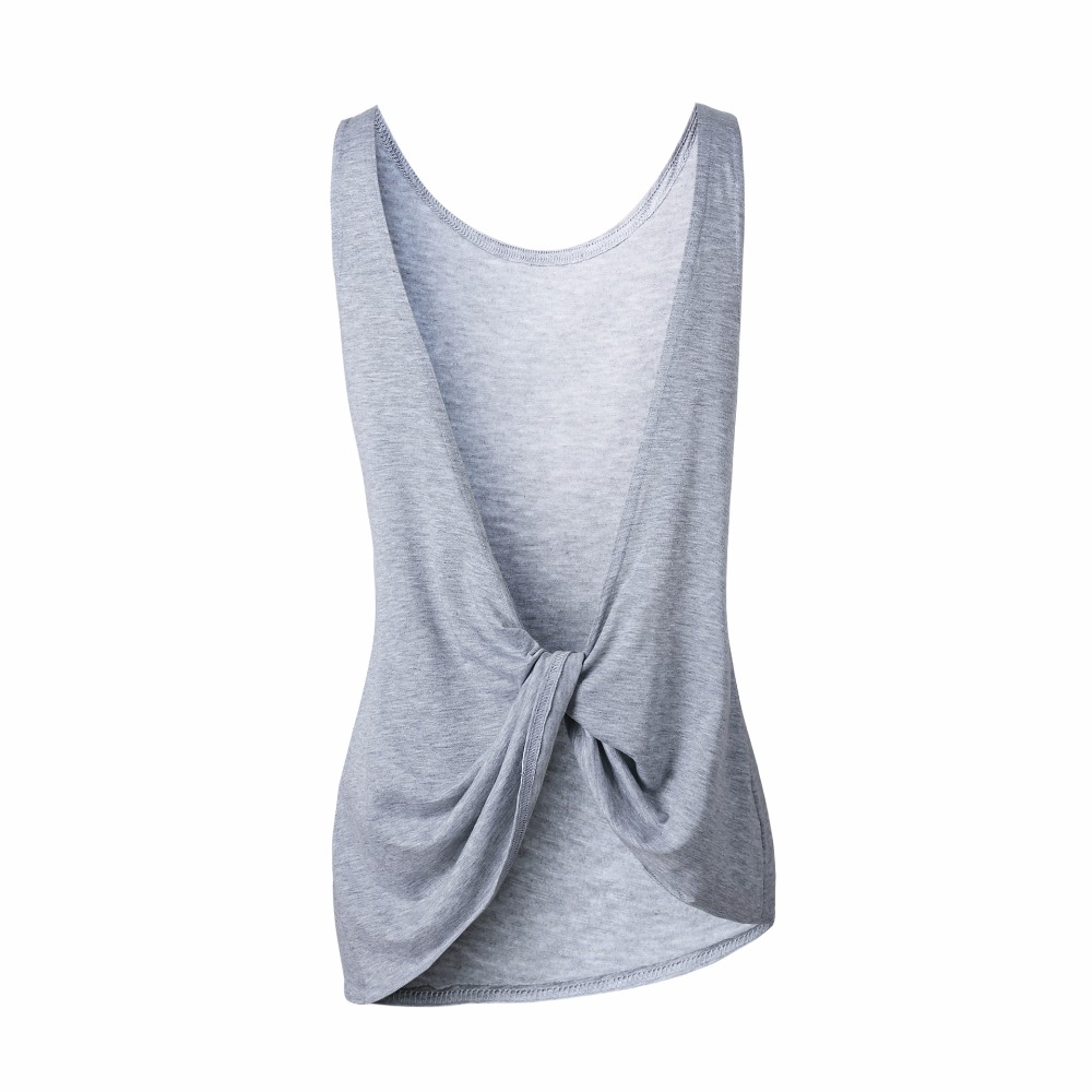Casual Cotton T-Shirt Female Black Gray White Sexy Backless Summer - Women's Clothing - Photo 6