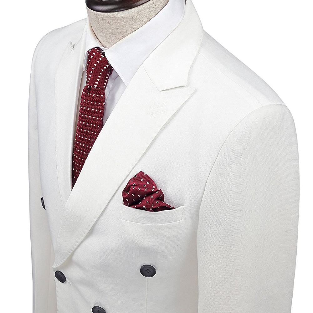 781ae72b2 Ropa de marca Slim fit hombres trajes esmoquin blanco capa Pant 2 ...