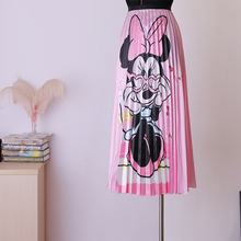BGSOLID  Long skirts woman fashion 2019 print pleated fairy loose A-shaped high waist wholesale and long skirt are welcomed