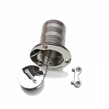 HCSSZP Marine Boat Hardware Deck Filler AISI 316 Stainless Steel Fuel Water Waste Diesel Gas Filler with Key Cap Free Shipping