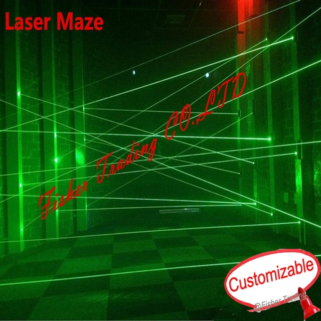 Reale laser room escape prop laser verde array laser labirinto per Camera dei segreti di interessante e rischiare di fuga camera laser