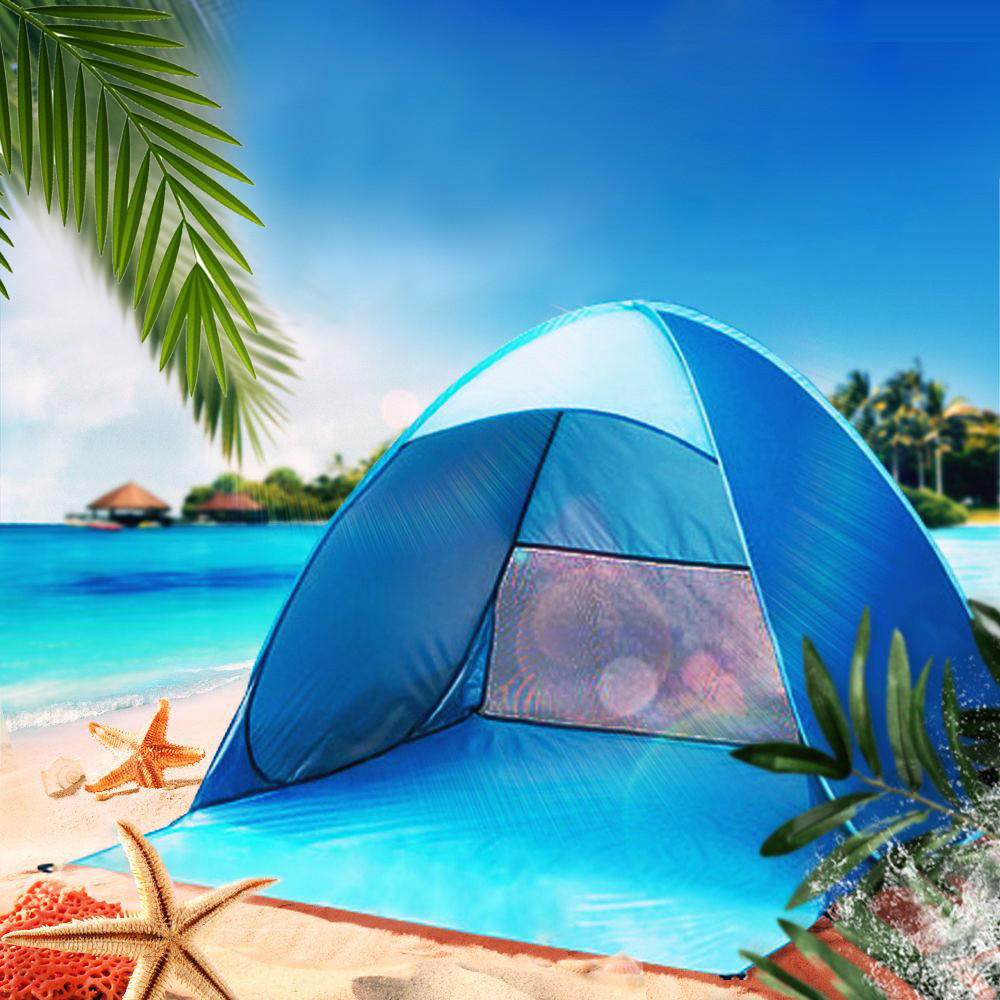 Automatic Camping Tent Beach Tent 2 Persons Tent Instant Pop Up Open Anti UV Waterproof Shading Tents Outdoor Sunshelter Hot