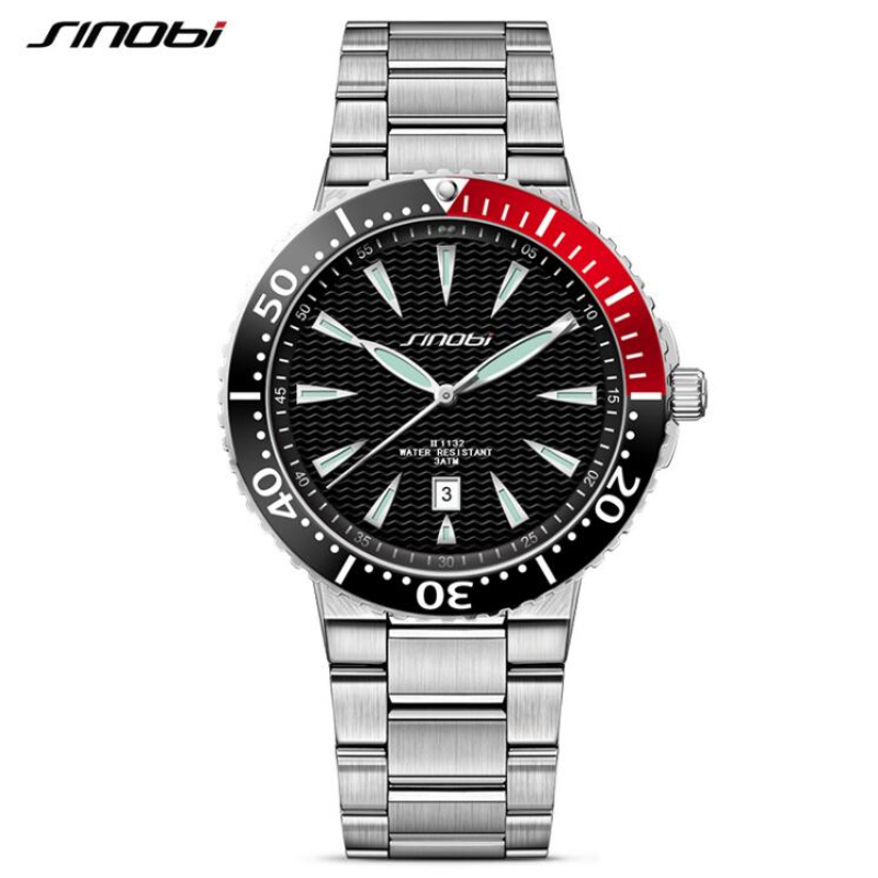 SINOBI Mens Watches Top Brand Luxury Watch Men Watch Fashion Luminous Wrist Watch Clock saat relogio masculino reloj hombre yazole top brand watch men watch waterproof sports watches fashion men s watch clock saat montre relogio masculino reloj hombre