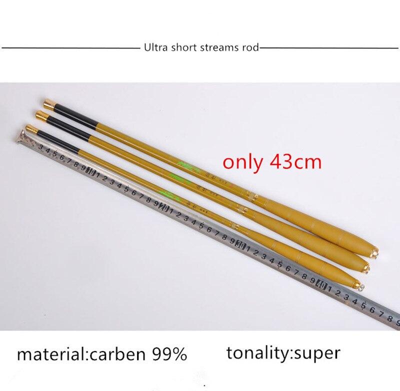 Ultrashort mini portable1.8-6.3 m córrego vara de