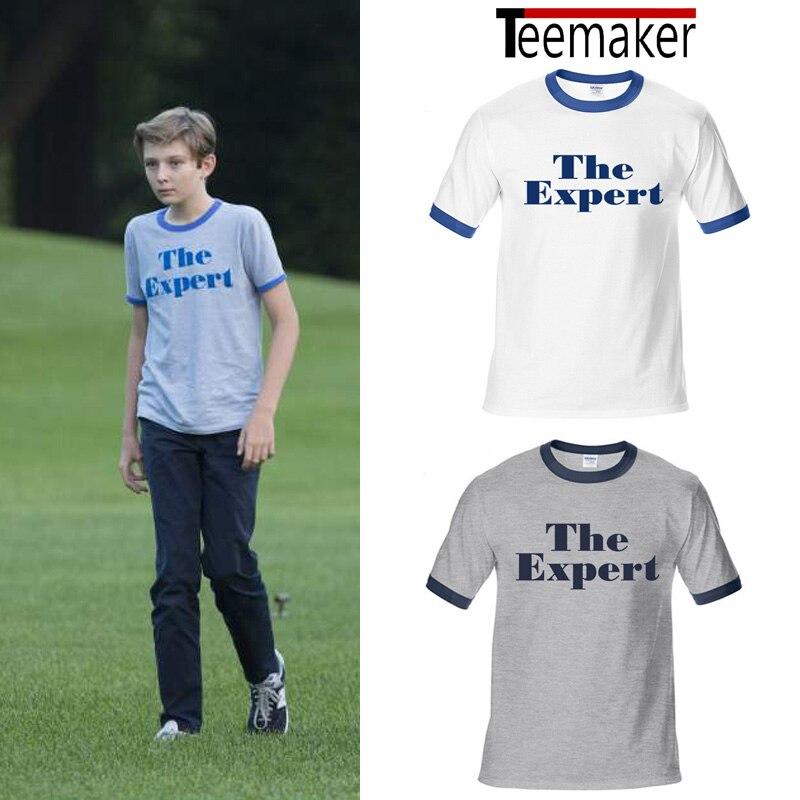Barron Trump T Shirts Manner Sommer Der Experte Drucken Tshirt