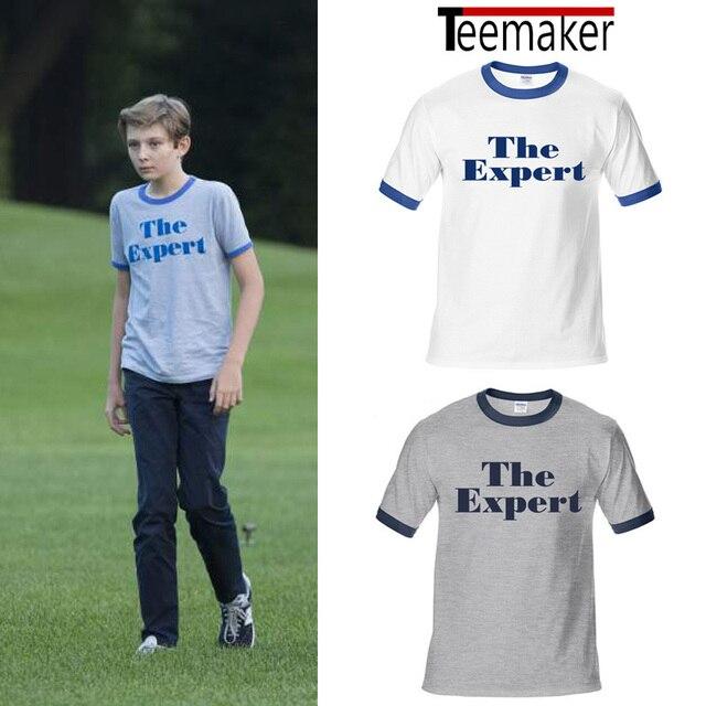 94e48e74 Barron Trump T Shirts Men Summer The Expert Print Tshirt Casual Short  Sleeve Tees O-