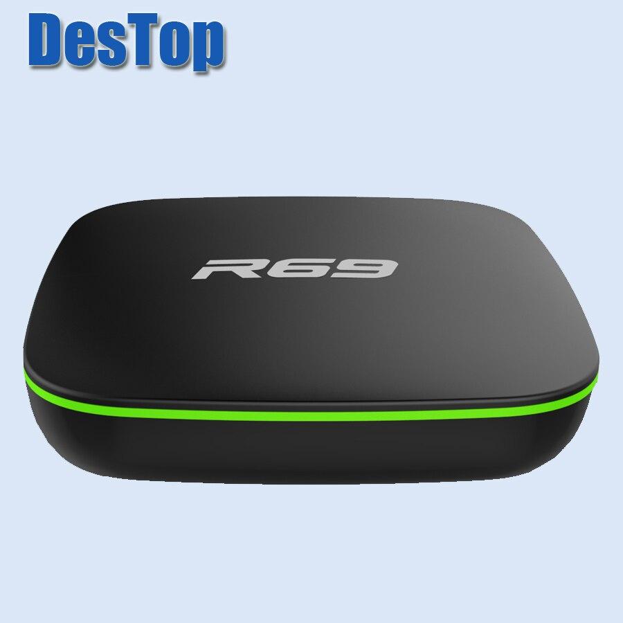 10PCS LOT R69 Android 7 1 TV Box DDRIII 1GB 8GB allwinner H3 Quad Core 1