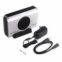 3.5 inch 393U3 Nhôm Vỏ Bọc 5 Gbps SuperSpeed USB 3.0 để SATA HDD Enclosure Box Trường Hợp Nội Bộ Mát Fan Drop Shipping vận chuyển