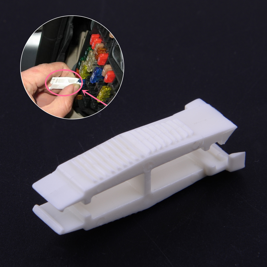 CITALL Fuse Relay Puller Removal Assembly Tool White Fit For VW Passat Golf Audi Skoda 8D0941802