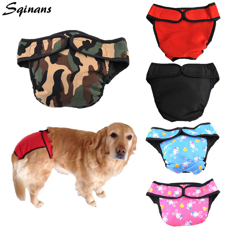 Diapers For Female Dogs Washable Reusable Diaper For Small To Large Dogs XXL Red
