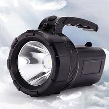 Linterna LED recargable, linterna Led, reflector 18650, linterna de largo alcance para exteriores, impermeable, lámpara de cazador, foco portátil