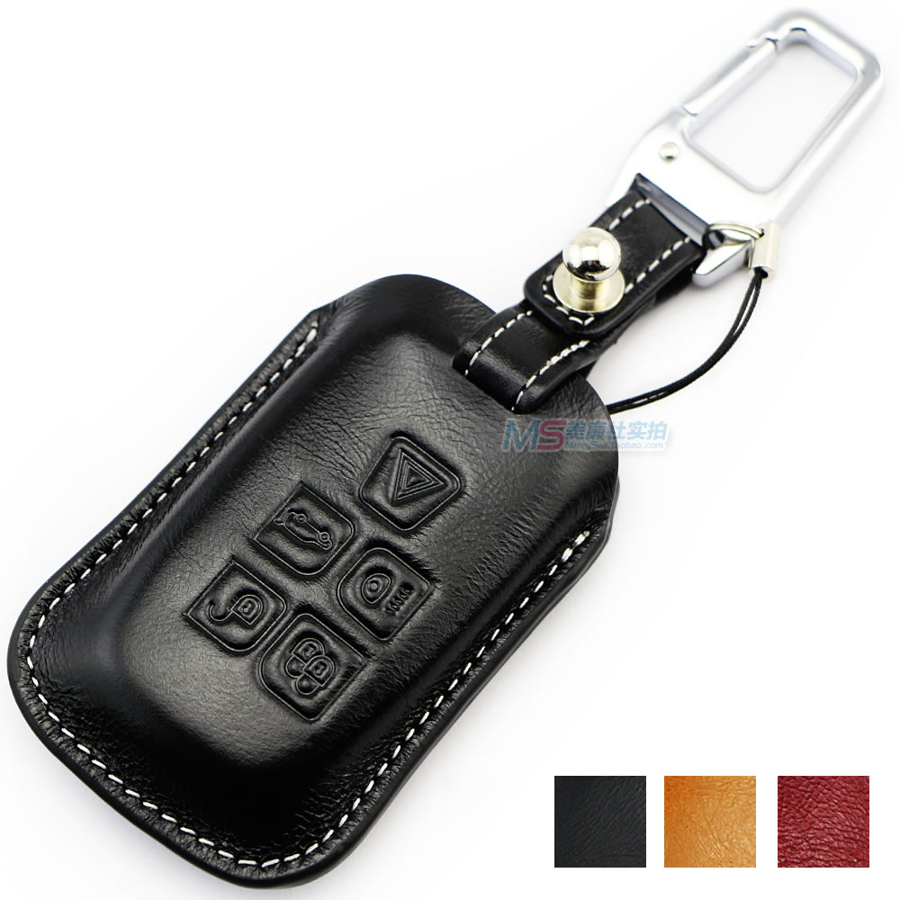 Genuine Leather Key Cover ᗚ For For Land Rover Range