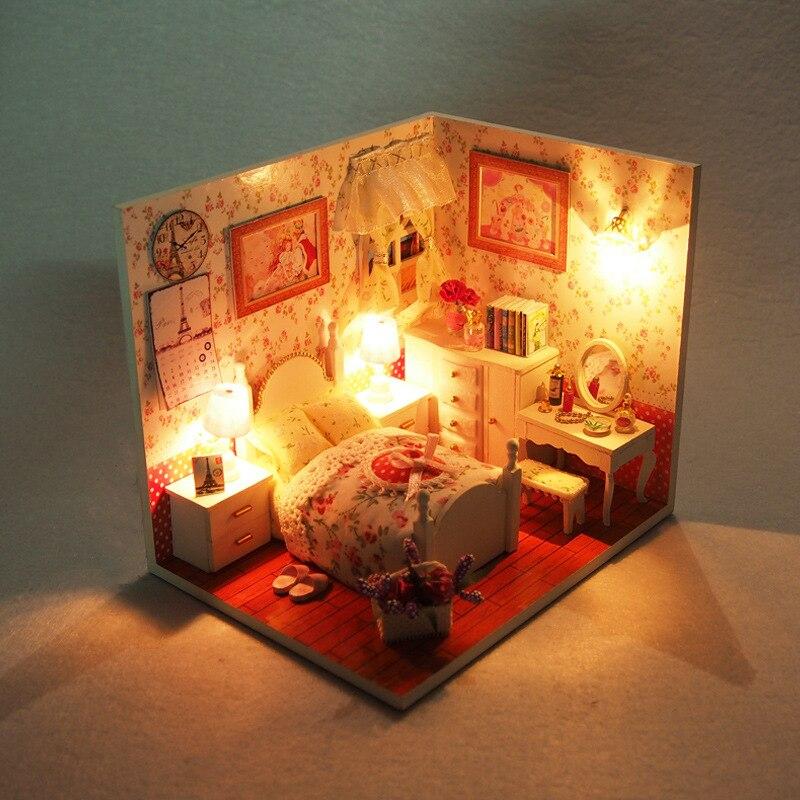 aliexpress koop leuke kamer diy houten miniatuur poppenhuis