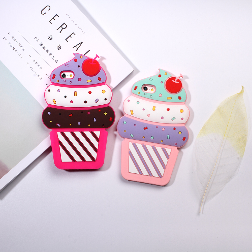 Case Cover for iPhone 5s 5 SE Shell Fundas Capa 3D Cherry Ice Cream Silicone Case Mobile Accessory for iPhone S E Cell Phone Bag