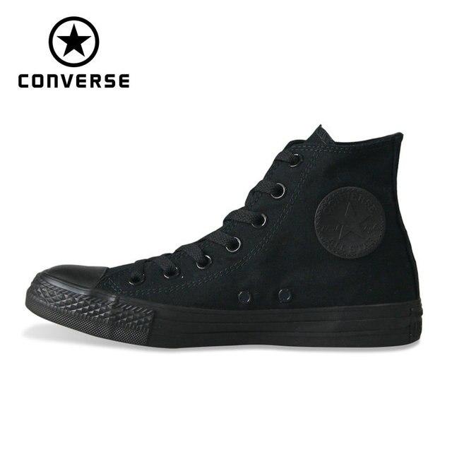 Классические Converse Оригинальные кроссовки all star парусиновая обувь 2 цвета высокие классические Скейтбординг обувь для мужчин и женщин, кроссовки на плоской подошве